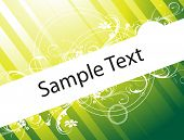 flower vector wallpaper of sample text in green gradient poster