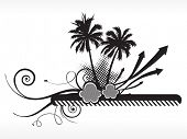wallpaper, black and white summer background poster