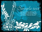 grunge border with musical instrument vector illustration poster