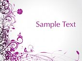 purple swirl with butterfly, sample text illustration poster