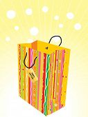 abstract background with isolated shopping bag poster