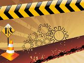 texture rays background with road sign icons poster