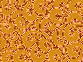 abstract yellow spiral pattern background illustration poster
