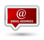 Email address isolated on prime red banner button abstract illustration poster