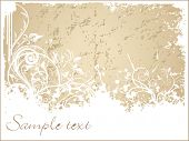 artistic swirl background, vector illustration poster