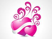 ABSTRACT ROMANTIC BACKGROUND FOR LOVE poster