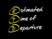 ETD - Estimated Time of Departure acronym business concept poster