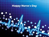 abstract medical concept background for happy nurse's day poster