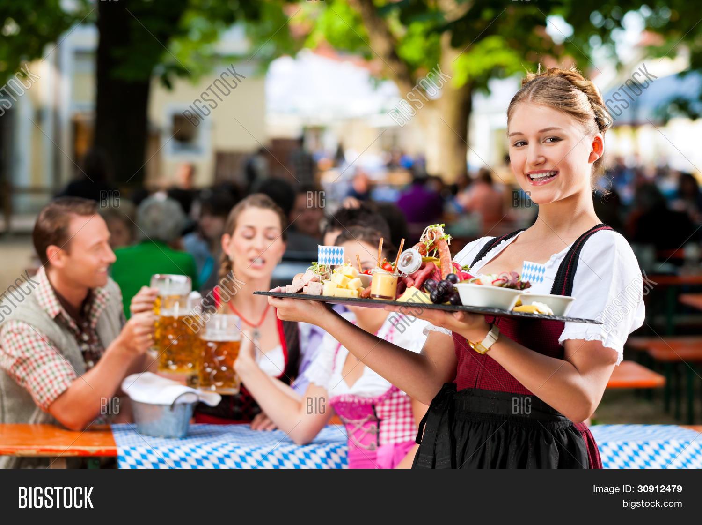Beer Garden Restaurant Image Photo Free Trial Bigstock