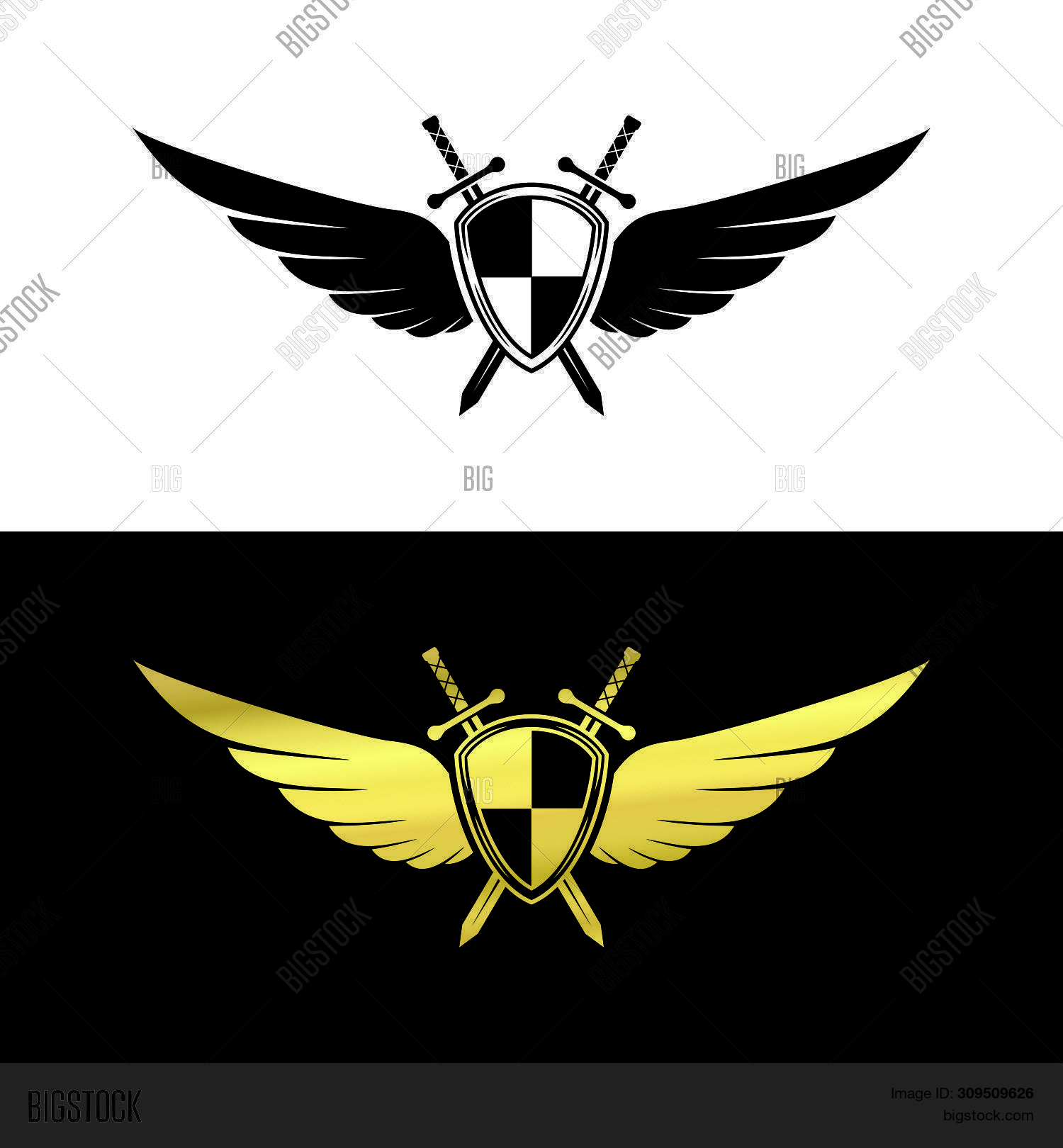 shield wing logo image photo free trial bigstock shield wing logo image photo free