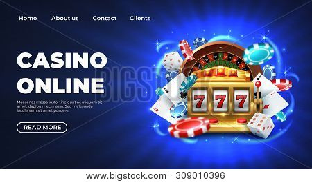 Casino 777 Slot Machine Landing Page Template. Gambling Casino Landing Page. Gambling Roulette Websi