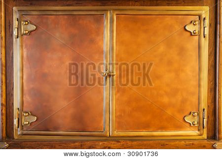 Wooden vintage furniture. Use fir background or texture
