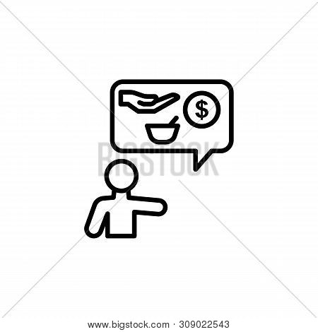 Charity Food Migration Outline Icon. Element Of Migration Illustration Icon. Signs, Symbols Can Be U