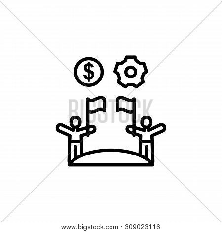 Refugee Flags Migration Outline Icon. Element Of Migration Illustration Icon. Signs, Symbols Can Be