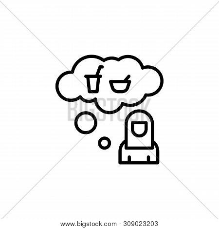 Refugee Food Migration Outline Icon. Element Of Migration Illustration Icon. Signs, Symbols Can Be U