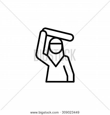 Refugee Woman Migration Outline Icon. Element Of Migration Illustration Icon. Signs, Symbols Can Be