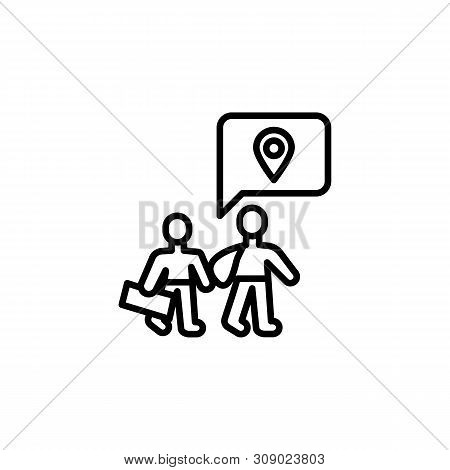 Location Migration Outline Icon. Element Of Migration Illustration Icon. Signs, Symbols Can Be Used