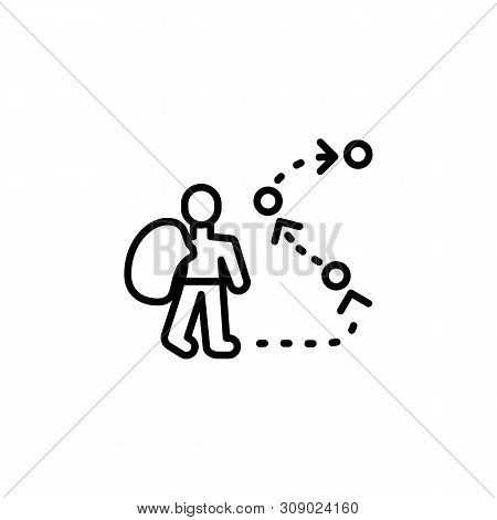 Nomad Migration Outline Icon. Element Of Migration Illustration Icon. Signs, Symbols Can Be Used For