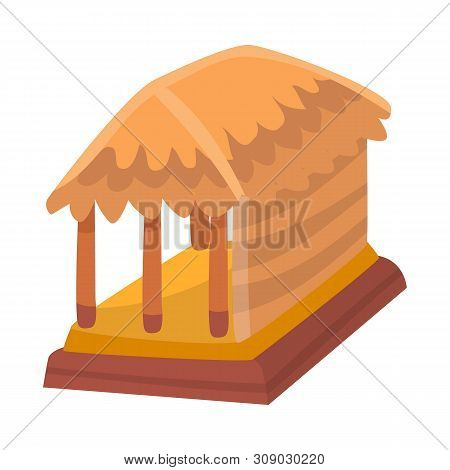 Vector Illustration Of Hut And House Logo. Collection Of Hut And Gazebo Stock Vector Illustration.