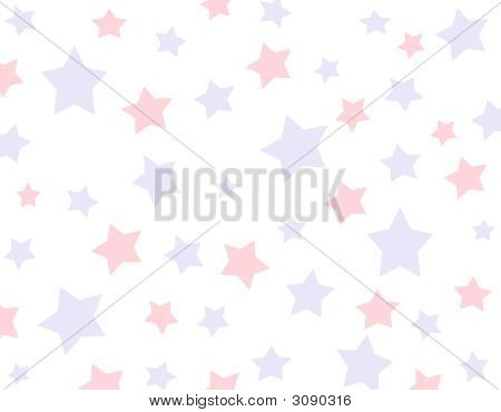 Background With Red And Blue Stars