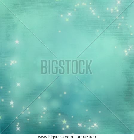 Mystical Blue Abstract Background.