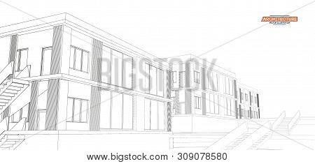 Architecture, Great Design For Any Purposes. 3d Illustration Architecture Urban City Modern Building