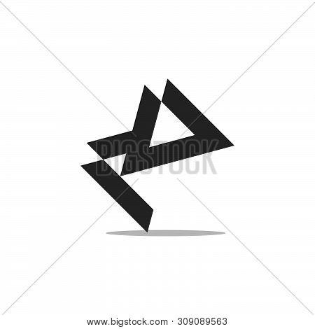 Letter Mv Abstract Geometric Logo Vector Unique Unusual Luxury Simple Design Concept