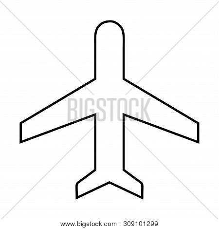 Airplane Line Icon. Airplane Line Icon Object. Airplane Web Icon. Airplane Icon Picture. Airplane Ic