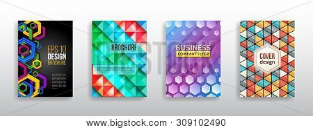 Hi-tech Cover Background. Book Cover Layout. Modern Simple Geometric Template For Business. Abstract