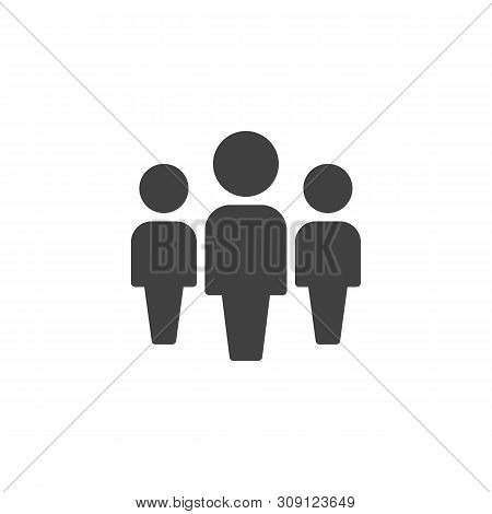 People, Leadership Vector Icon. Work Group Team Filled Flat Sign For Mobile Concept And Web Design.
