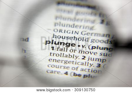 The Word Or Phrase Plunge In A Dictionary
