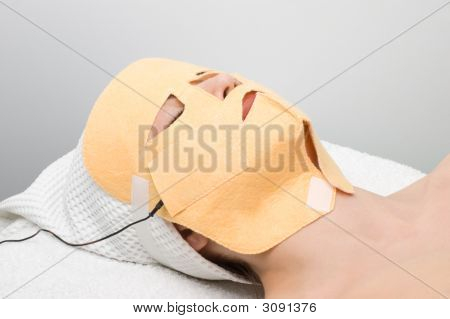Body Care Series. Facial Mask Electrophoresis Procedure
