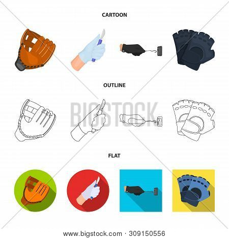 Vector Illustration Of Knitted And Keeper Sign. Collection Of Knitted And Hand Stock Vector Illustra
