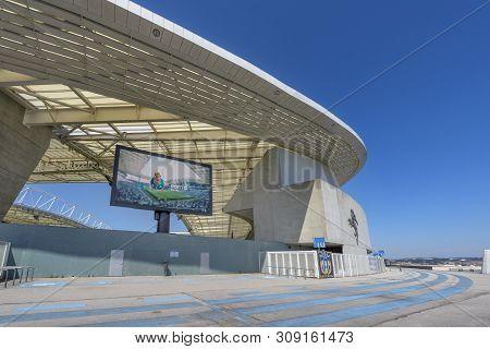 Porto, Portugal - April 2018:  View On Estadio Do Dragao Stadium
