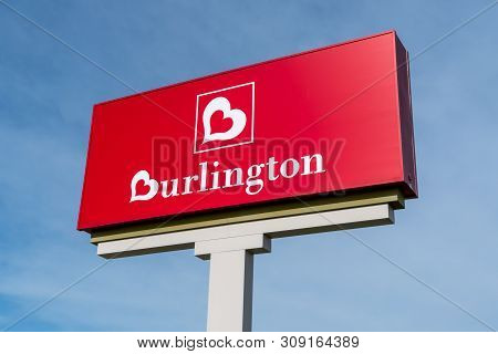 Fargo, Nd/usa - June 28, 2019: Burlington Coat Factory Retail Store Sign And Trademark Logo.