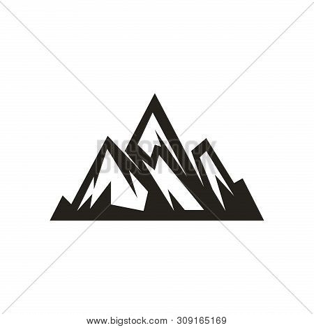 Mountain Logo, Hills Logo, Mountain Symbol, Mountain Icon, Mountain Logo Business, Vector Design Ele