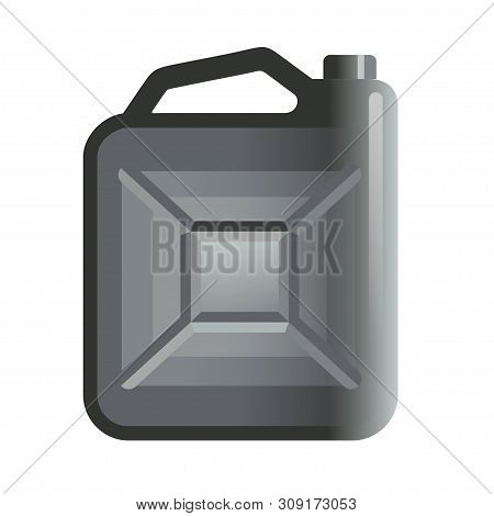 Fuel Jerrycan Icon. Canister For Gasoline. Car Oil Vector Sign.