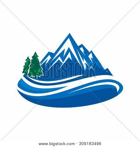 Mountain Logo, Hills Logo, Mountain Symbol, Mountain Icon, Mountain Logo Business, Vector Design Ele