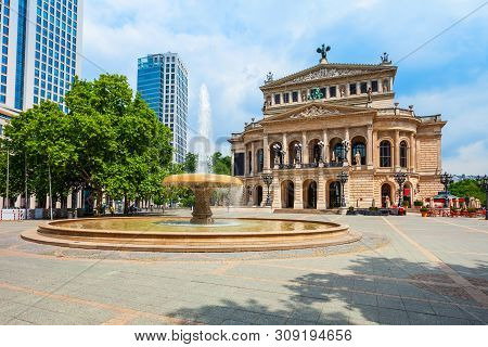 Old Opera Or Alte Oper Is The Original Opera House In Frankfurt Am Main, Germany