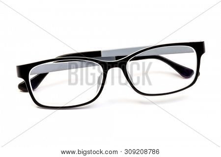 Spectacle frames isolated on white background