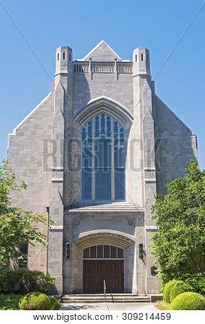 Landmark Church Front Entrance And Facade In New Orleans Louisiana