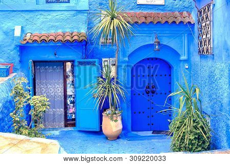 Chefchaouen, A City With Blue Painted Houses. A City With Narrow, Beautiful, Blue Streets.