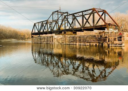 Old Swinging Train Bridge