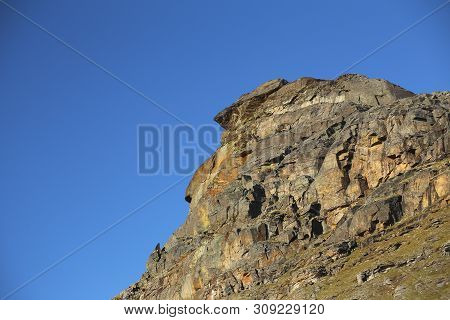 Rock Cliff At The Valley Karkevagge In Northern Sweden