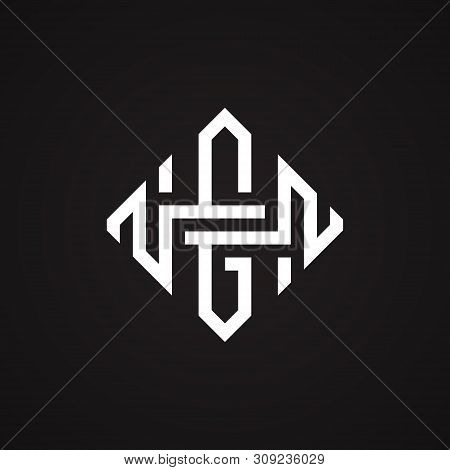 Hg Or Gh Letter Shaped Square Design Vector Illustration Symbol. Creative Letter Symbol. Vector Illu