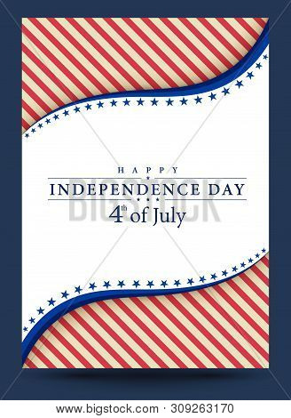 Template 4Th Of July Independence Day Vector Illustration