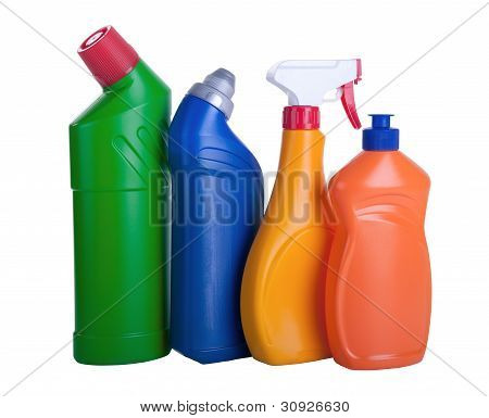 Assorted Household Cleaning Products