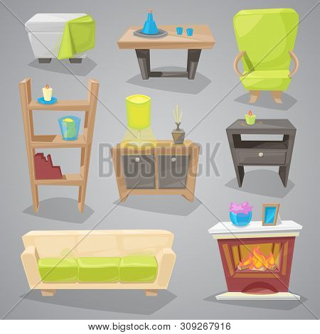 Furniture Furnishings Design Of Couch And Sofa In Furnished Interior Or Armchair With Chair For Deco
