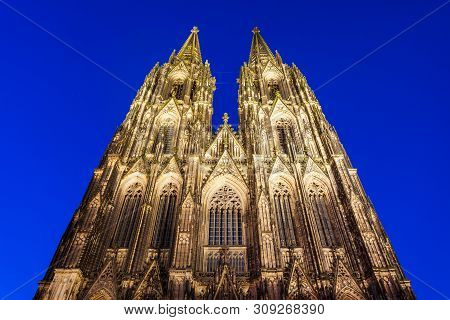 Cologne Cathedral Is The Main Catholic Church In Cologne City In Germany