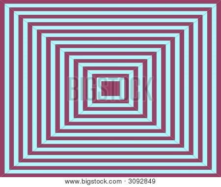 Op Art Homage To The Square Blue Deep Red